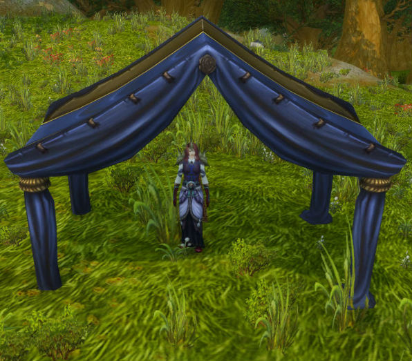 Fine Blue and Gold Tent